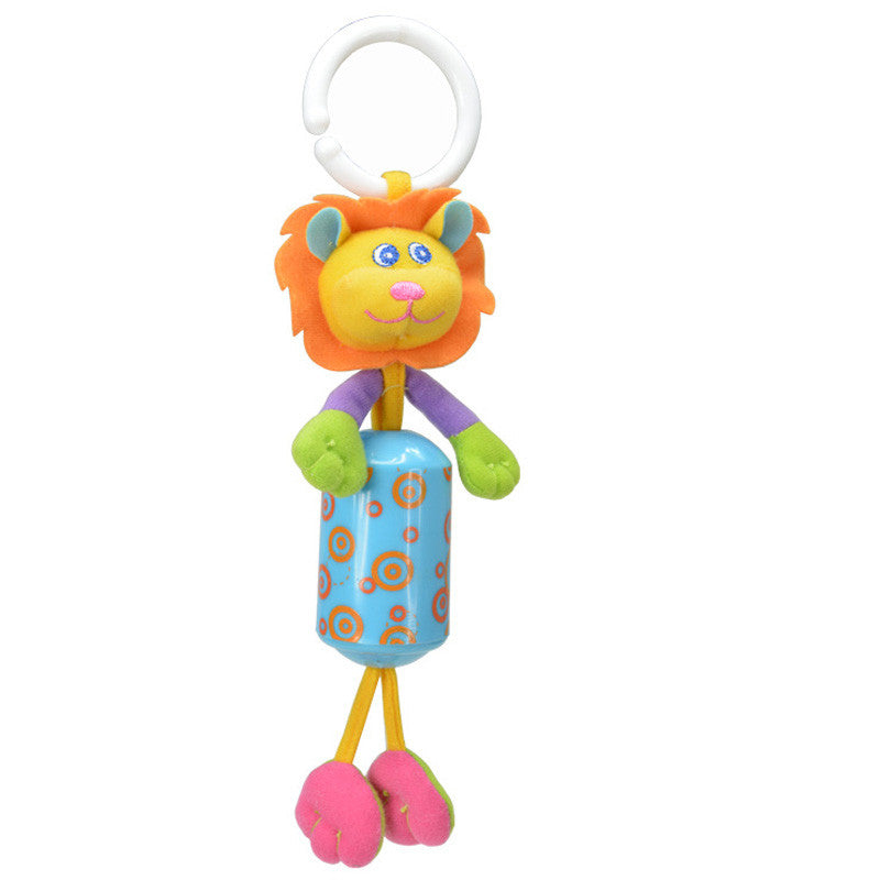 Baby Crib Stroller Rattle Toy Cartoon Animals Plush Infant Hanging
