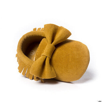 Hot PU Suede Leather Newborn Baby Boy Girl Baby Moccasins Soft Moccs