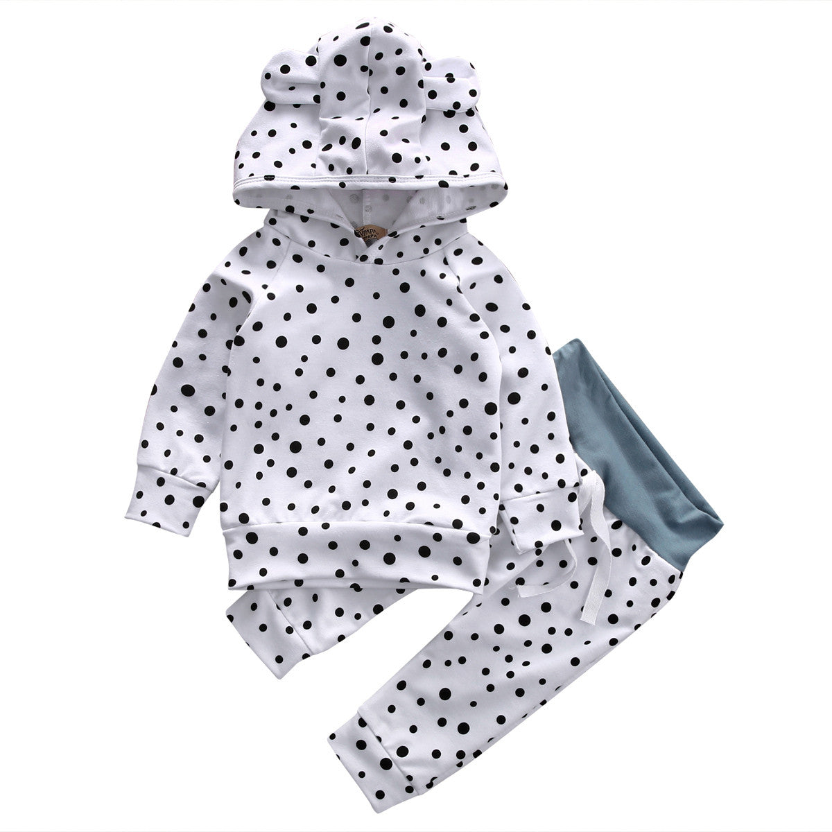 Baby Clothing Sets 2016 Autumn Newborn Baby Boys Girls Dot Cute Hooded