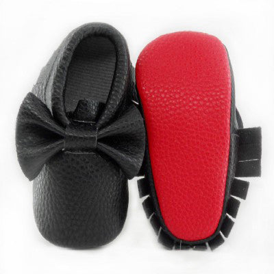 New Red sole PU Leather Newborn Baby Boy Girl Baby Moccasins Soft
