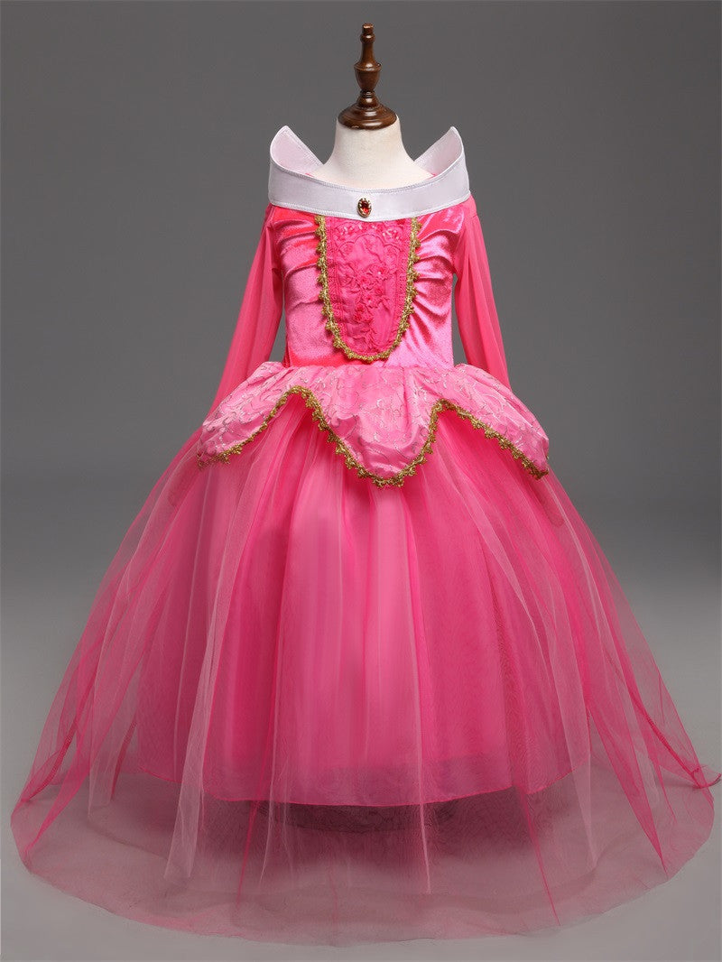 Ai Meng Baby Fantasy Kids Sleeping Beauty Cosplay Costume Princess
