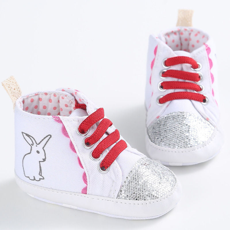 Baby First Walkers Baby Shoes Cute Cartoon Rabbit Soft Bottom Non-slip