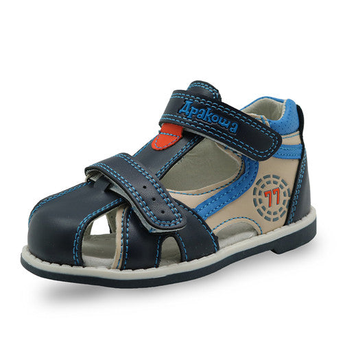 Apakowa 2017 summer kids shoes brand closed toe toddler boys sandals