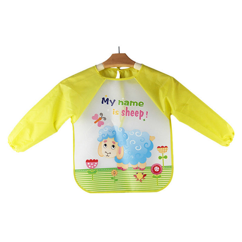 Animal cartoon print waterproof baby boy bib feeding babies bibs