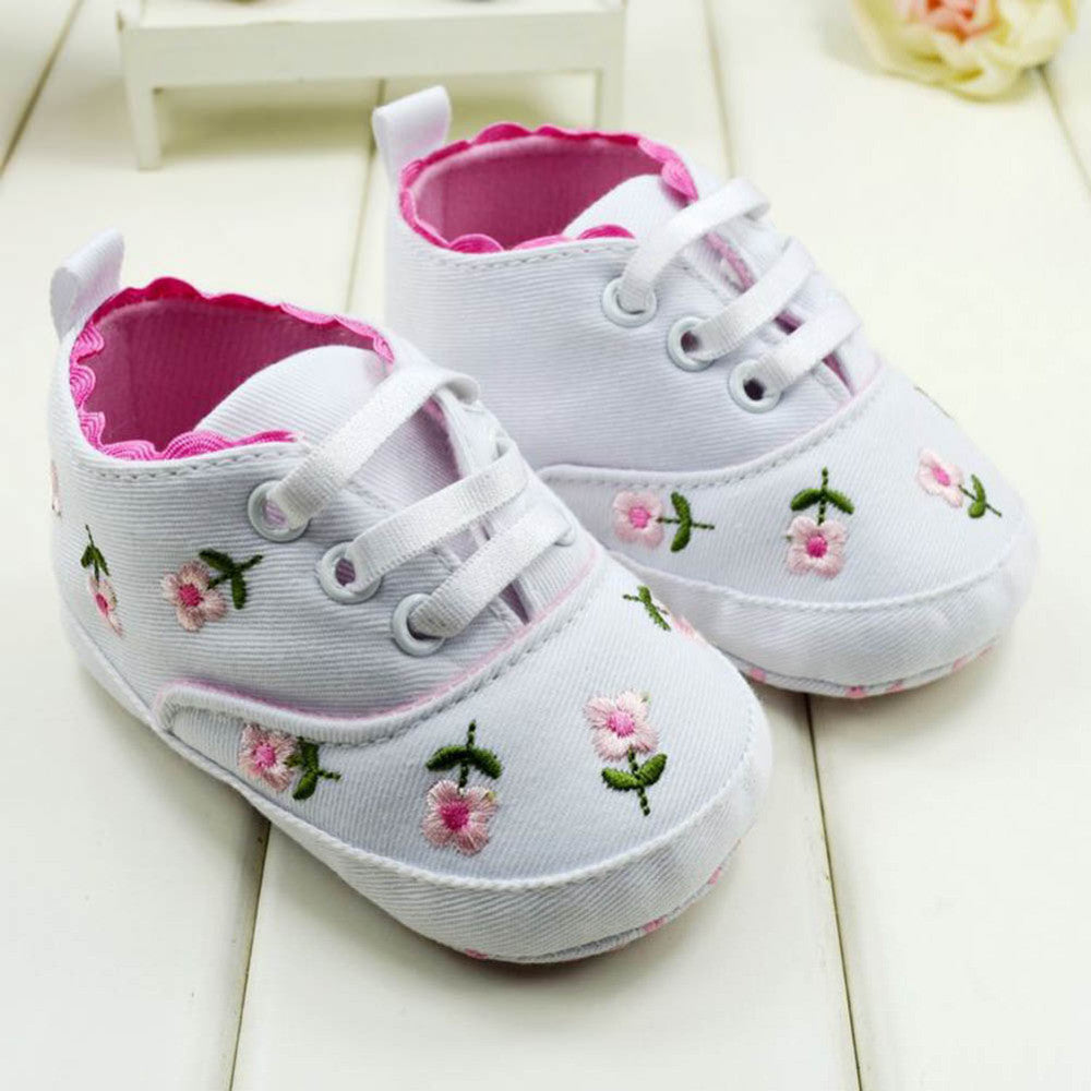Baby Girl Flower First Walkers Shoes Spring Autumn Princess Shoes