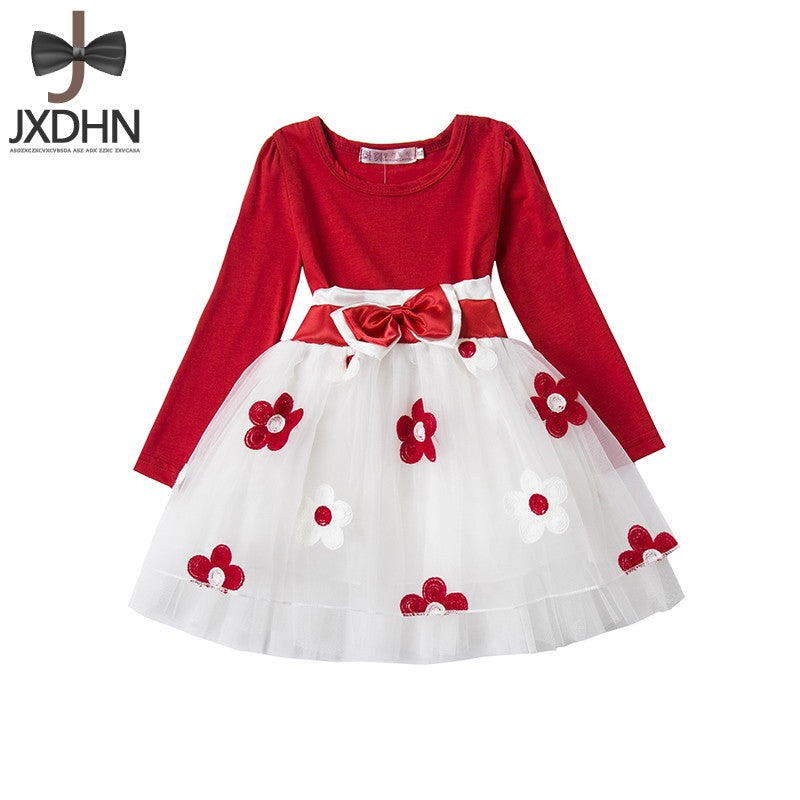 Flower Baby Girl dress wedding winter Long Sleeve infant Dress