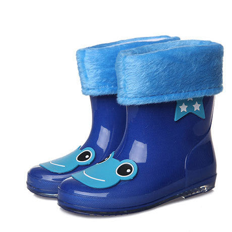 ActhInK New Design Kids Cartoon Rainboots Baby Girls Antiskid