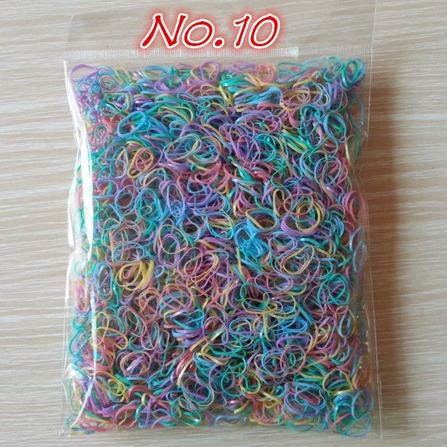 About 1000pcs/bag (small package) 2015 New Child Baby TPU Hair Holders