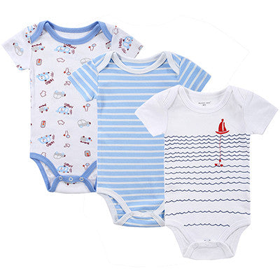 BABY BODYSUITS 3PCS 100%Cotton Infant Body Short Sleeve Clothing