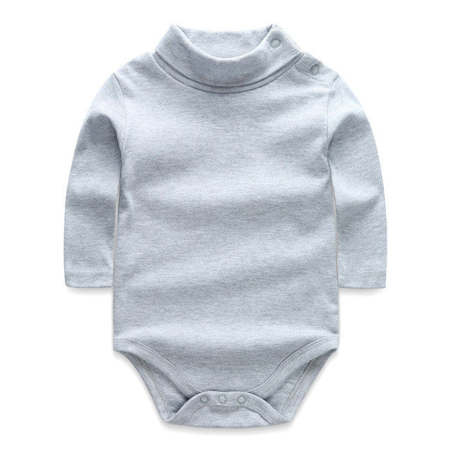 Baby Bodysuits Turn-down Collar Long Sleeve Baby Clothes Winter Infant