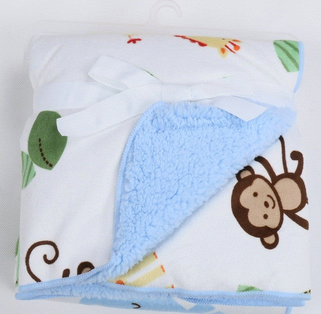 Baby Blanket New Brand Thicken Double Layer Coral Fleece Infant