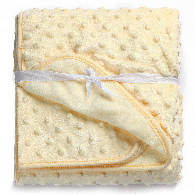 Baby Blanket Newborn Thermal Soft Fleece Blanket & Swaddling Bedding