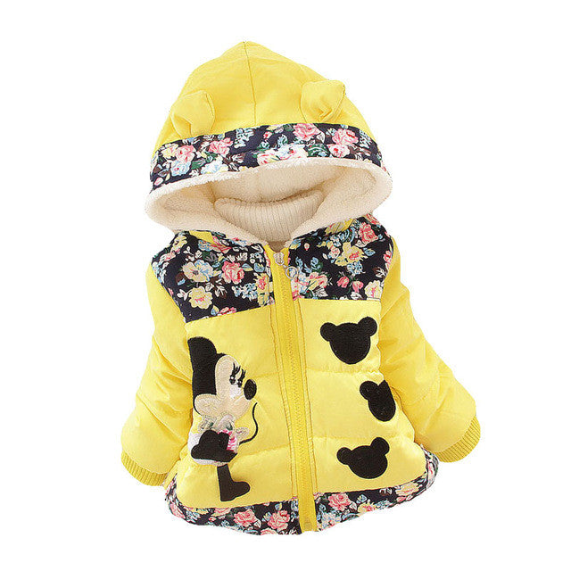 Baby Girl Coat & Jacket Children outerwear cotton winter Hooded