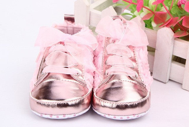 03f1642c50db Baby Shoes Girls Toddler Soft Sole with Rose Flowers Children Shoes ...