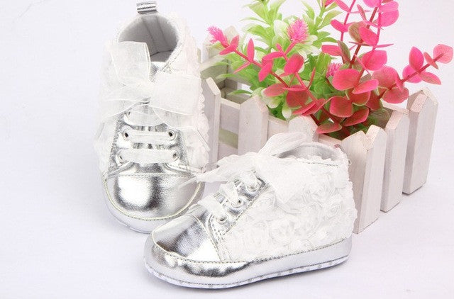 Baby Shoes Girls Toddler Soft Sole with Rose Flowers Children Shoes