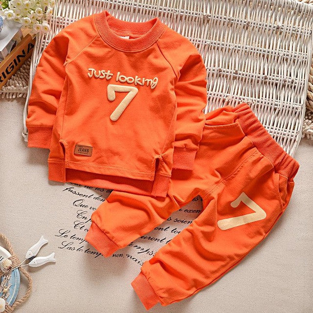 Baby Boys Clothing set Casual Sport Letters Tracksuit Infant Toddler