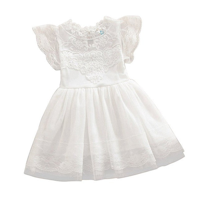 Baby Girl Lace Tutu Dress Summer Hollw Out Sundress Kids Formal