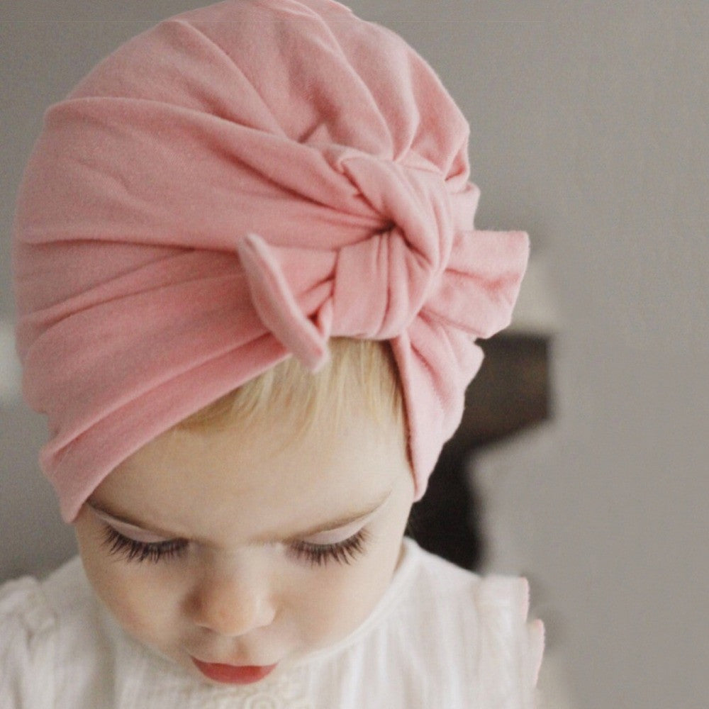 Hot Sale Bow Baby Hat Cotton Spring Autumn Girls Boys Cap Bohemia