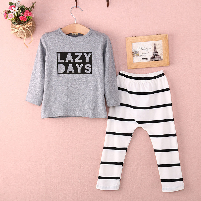 baby boys Girls clothes set  Newbornt Baby Long Sleeve Clothes T-shirt