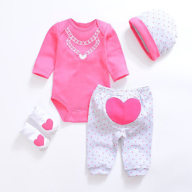 Baby Clothing Sets 2017 New Newborn Boy Girl Clothes Set Cotton Long