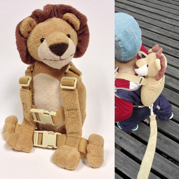 Cute 2 in 1 Harness Buddy Baby Safety Harnesses Animal Toy Backpacks