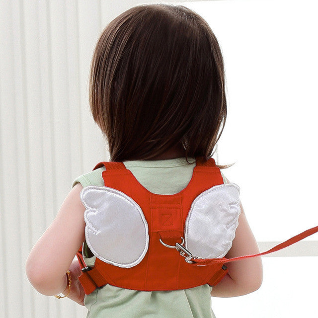 Anti-lost Harness Leash Backpack For Children Angel Design Toddler