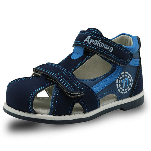 Apakowa Top quality 2017 kids sandals pu leather children shoes
