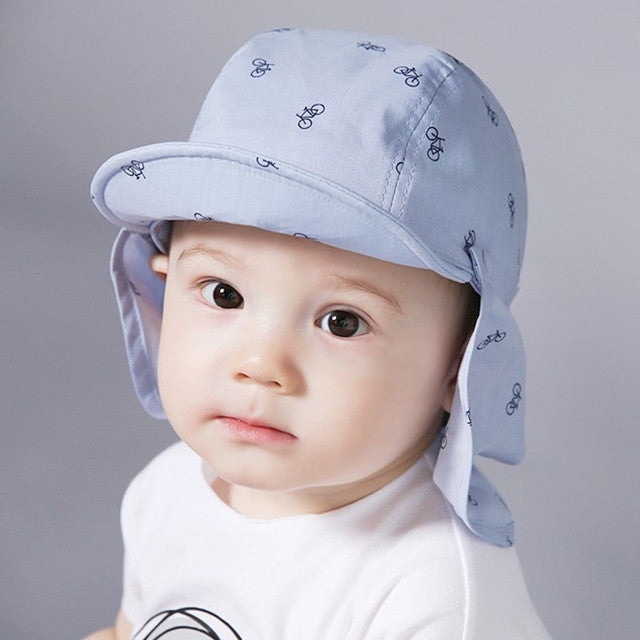 Baby Boy Sun Hats Spring Summer Baseball Caps with Shawl Baby Hat Kids