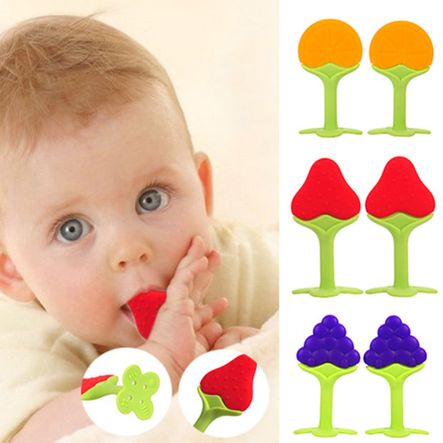 Safety Fruit Shape Baby Teether Baby Teething Toys Food Grade Silicone