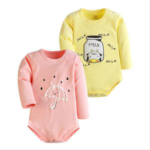 Baby Bodysuits Spring Summer 2/3 PCS Baby Ropa Cotton Clothes Long