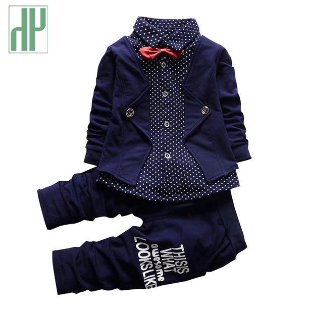 Baby boy clothes spring 2016 formal kids clothes suit 2Pcs boys set
