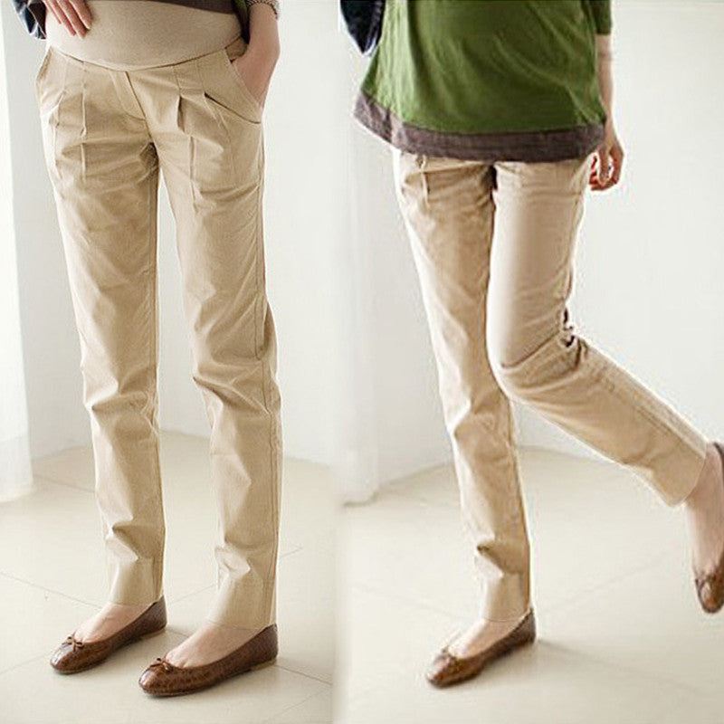 8007# Length >105 CM Quality Elastic Waist Cotton Maternity Pants