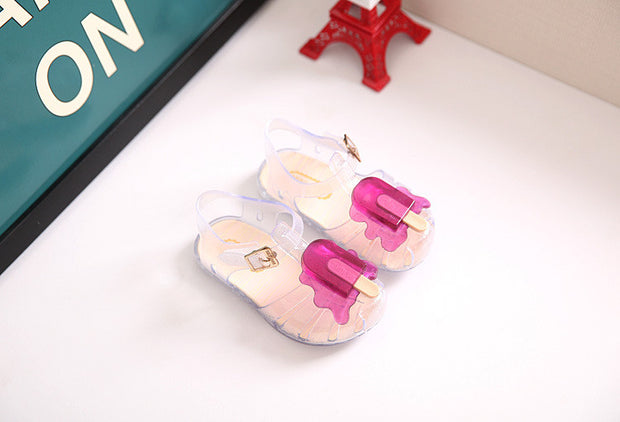 Hot sell New Kids Mini SED Jelly Sandals For Baby Girls ice cream
