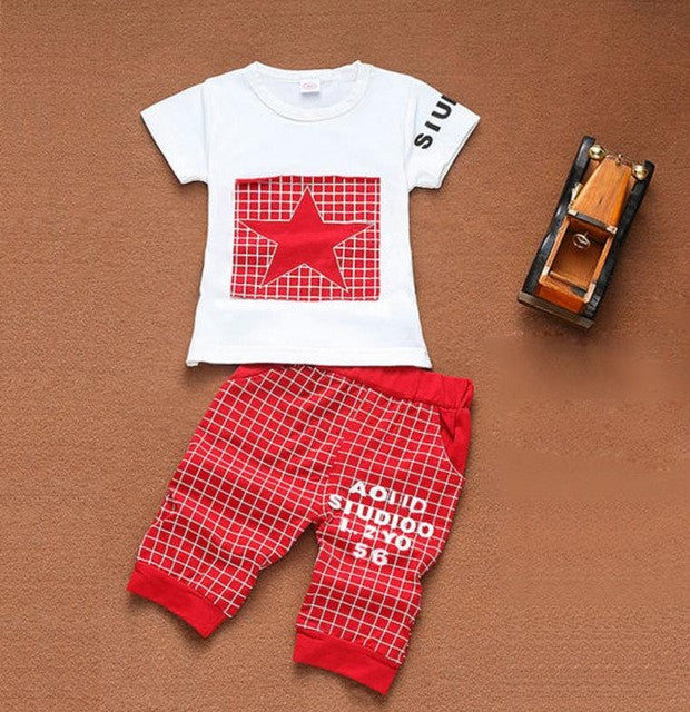 Baby boy clothes 2017 Brand summer kids clothes sets t-shirt+pants