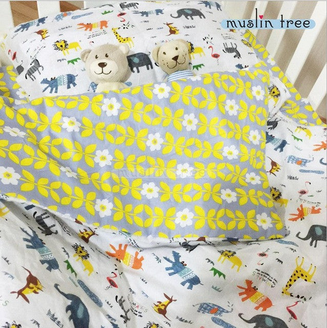 adamant ant 3 Pcs Cotton Crib Bed Linen Kit Cartoon Baby Bedding Set