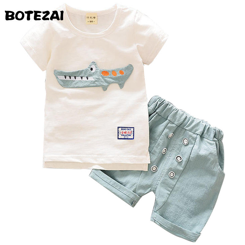 Baby Boys Clothes Set 2017 Summer Kids Boy Clothes Top+Shorts Children