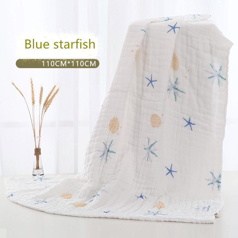 baby blanket Muslin Cotton Two Layers Thicken Newborn Baby Swaddle