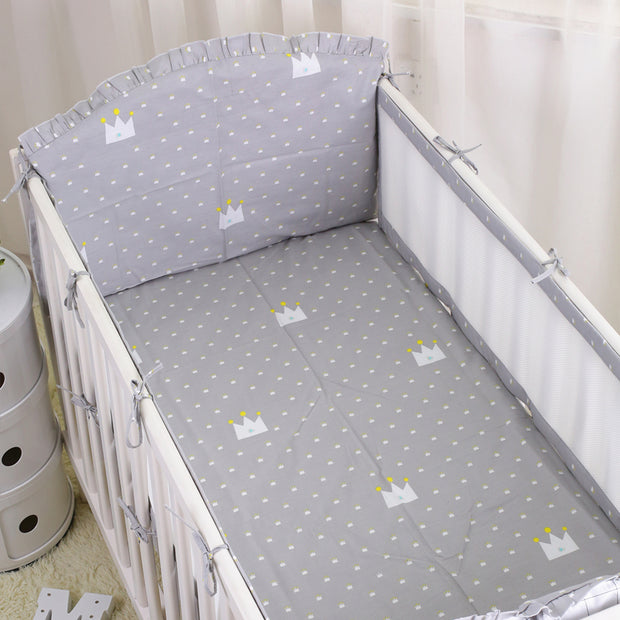 6pcs Breathable Baby Crib Bumper Summer  Baby Bedding bumpers Kid