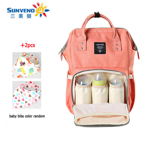 SUNVENO 2017 Fashion Mummy Maternity Diaper Bag Mom Backpack Brand