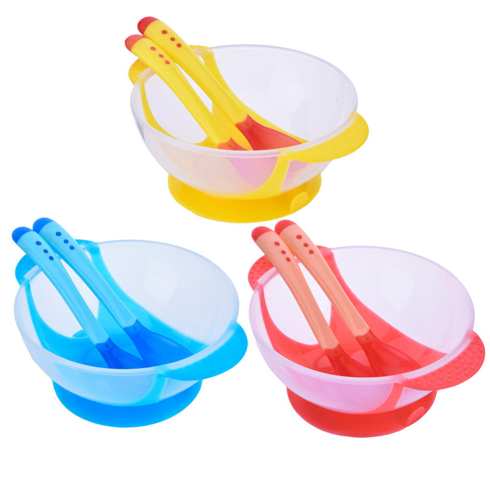 Baby Food Bowl Learning Dishes Feeding Bowl Set 3pcs Assist Bowl