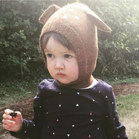 MILANCEL Autumn Winter Baby Hats Kids Cute Deer Hat Beanie Cap Toddler Infant Baby Girls and Boys Knitted Hat Photo Props