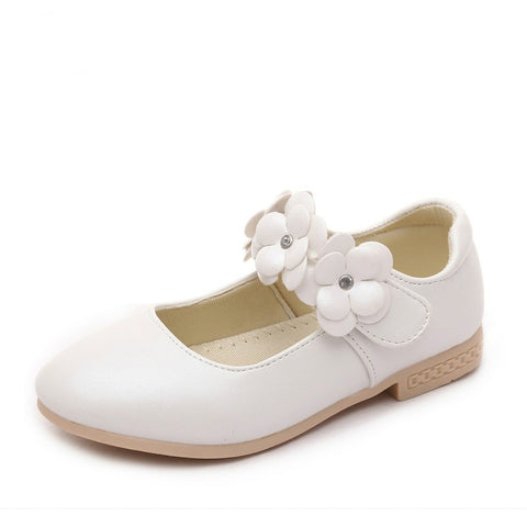 75c0c908fe Childrens flower girl shoes 2017 new baby kids girls white shoes girls  school princess shoes high