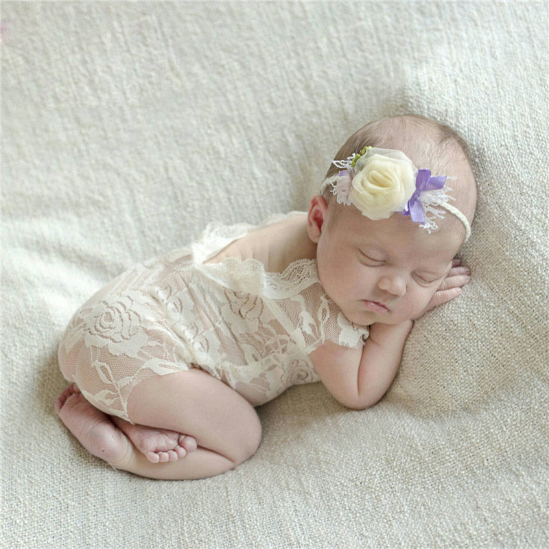 37abd22c437 Baby Newborn Lace Romper Photography Props Accessories Infant Bebe ...
