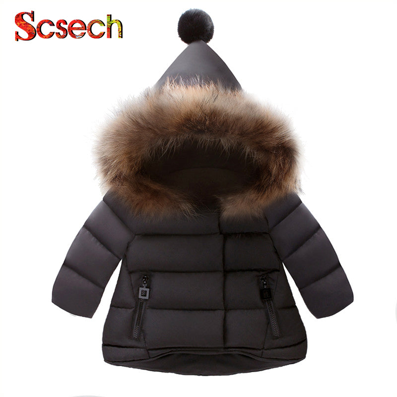 New Baby Girls Boys Jackets Autumn Winter Jacket Kids Warm Hooded