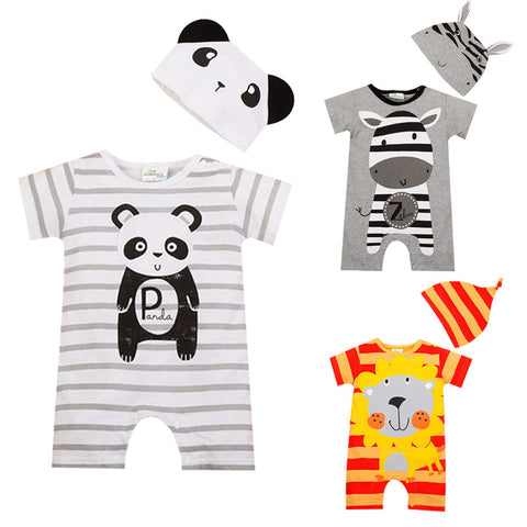 Baby Boy Rompers Summer Baby Girl Clothing Sets Short Sleeve Newborn Baby Clothes Roupa Bebes Infant Jumpsuit Baby Boys Clothes