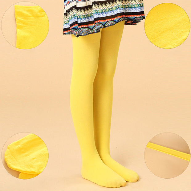 Spring/autumn candy color children tights  for baby girls kids cute