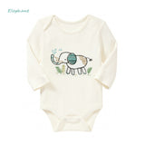Animal Forest Baby Boy Girl Long Sleeve Cotton Romper One Pieces Cute Clothes Jumpsuits Roupas De Bebe Infantil Baby Clothing