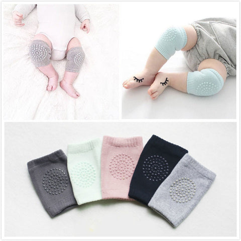 Baby Anti Slip Knee Pads Cotton Baby Socks For Newborns Baby Safety Crawling Elbow Cushion Knee Protector Leg Warmers