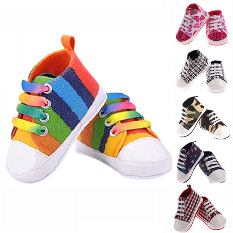 Baby Shoes Kids Sports Sneakers Newborn Bebe Soft Bottom Anti-slip Enfant Canvas Prewalkers Shoes sapatos de bebe