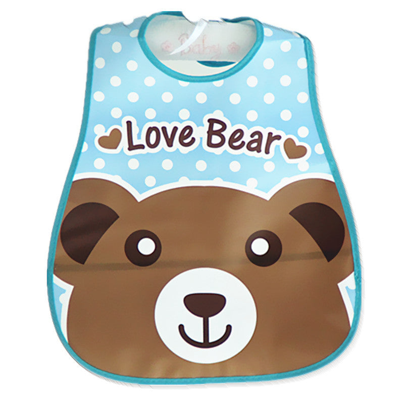 Baby Bibs EVA Waterproof Saliva Towel Scarf Lunch Boys Girls Cartoon